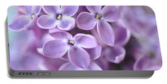 Pastel Lilacs Portable Battery Charger