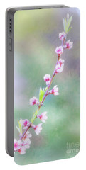 Pastel Painted Peach Blossoms Portable Battery Charger