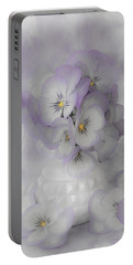 Pastel Pansies Still Life Portable Battery Charger