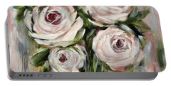 Pastel Pink Roses Portable Battery Charger