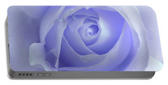 Pastel Purple Rose Flower Portable Battery Charger