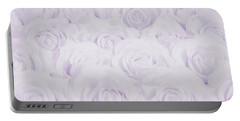 Pastel Purple Roses Portable Battery Charger