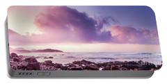 Pastel Purple Seashore Portable Battery Charger