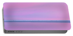 Pastel Shades Of An Icelandic  Winter Sunset. Portable Battery Charger