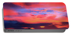Pastel Sunset Portable Battery Charger