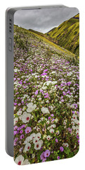 Pastel Super Bloom Portable Battery Charger by Peter Tellone
