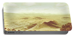 Pastel Tone Mountains Portable Battery Charger