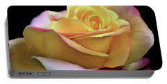 Pastel Yellow Rose Canvas Proofed Portable Battery Charger