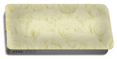 Pastel Yellow Roses Portable Battery Charger