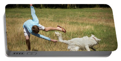 Pasture Ballet Human Interest Art By Kaylyn Franks   Portable Battery Charger