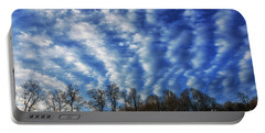 Pasture Field And Winter Sky Portable Battery Charger by Thomas R Fletcher