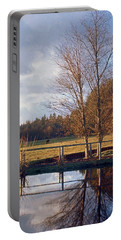 Portable Battery Charger featuring the photograph Pasture Pond by Laurie Stewart