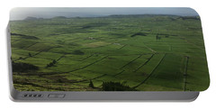 Pastures Inside The Rim On Terceira, Azores, Portugal Portable Battery Charger by Kelly Hazel