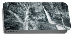 Patagonian Waterfall Portable Battery Charger by Andrew Matwijec