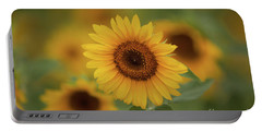 Patch Of Sunflowers Portable Battery Charger
