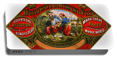 Portable Battery Charger featuring the photograph Patent Medicine Label 1862 by Padre Art
