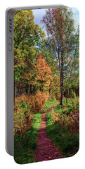 path in a beautiful country Park on a Sunny autumn day Portable Battery Charger