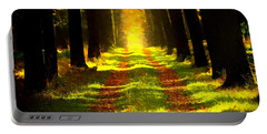 Portable Battery Charger featuring the painting Path In The Forest 715 - Painting by Ericamaxine Price