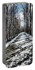 Path In Winter Portable Battery Charger