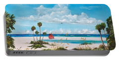 Path On Siesta Key To The Red Lifeguard Shack Portable Battery Charger by Lloyd Dobson
