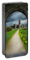 Portable Battery Charger featuring the photograph Path To Ireland's Quin Abbey, County Clare by James Truett