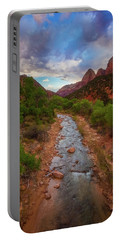 Portable Battery Charger featuring the photograph Path To Zion by Darren White
