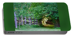 Pathway To A Sunny Summer Morning  Portable Battery Charger