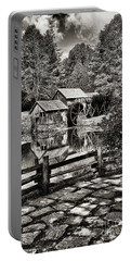 Portable Battery Charger featuring the photograph Pathway To Marby Mill In Black And White by Paul Ward
