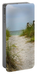 Portable Battery Charger featuring the photograph Pathway To The Beach by Carol  Bradley