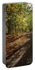Portable Battery Charger featuring the photograph Pathways In Fall by Iris Greenwell