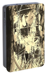 Portable Battery Charger featuring the painting Patience by Carol Rashawnna Williams