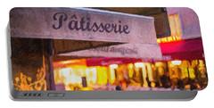 Patisserie - Paris Art Print Portable Battery Charger