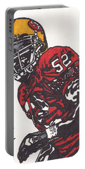 Portable Battery Charger featuring the drawing Patrick Willis by Jeremiah Colley