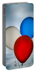 Portable Battery Charger featuring the photograph Patriotic Balloons by Carolyn Marshall