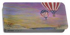 Patriotic Balloons Portable Battery Charger by Debbie Baker