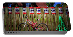 Portable Battery Charger featuring the photograph Patriotic Bicycle by Craig J Satterlee
