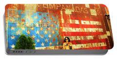 Patriotic Empanadas Wall In New York  Portable Battery Charger