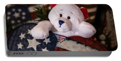 Patriotic Teddy Bear Portable Battery Charger