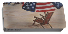 Patriotic Umbrella Portable Battery Charger by Debbie Baker