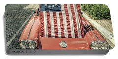 Patriotic Vette Portable Battery Charger