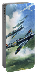 Patrolling Flight Of 416 Squadron, Royal Canadian Air Force, Spitfire Mark Nines Portable Battery Charger
