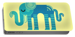 Pattern Elephant Portable Battery Charger