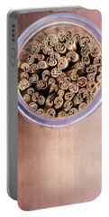 Portable Battery Charger featuring the photograph pattern of Cinnamon  by Jingjits Photography