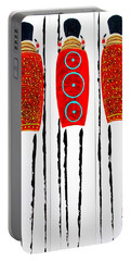 Patterned Masai Triptych Portable Battery Charger