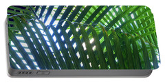 Patterned Palms Portable Battery Charger