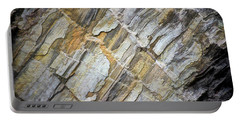 Portable Battery Charger featuring the photograph Patterns In The Rock by Kerri Farley