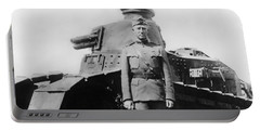 Patton Beside A Renault Tank - Wwi Portable Battery Charger