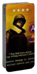 Portable Battery Charger featuring the digital art Patton Tribute by John Wills
