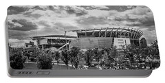 Paul Brown Stadium Black And White Portable Battery Charger