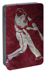 Paul Goldschmidt Arizona Diamondbacks Art Portable Battery Charger by Joe Hamilton